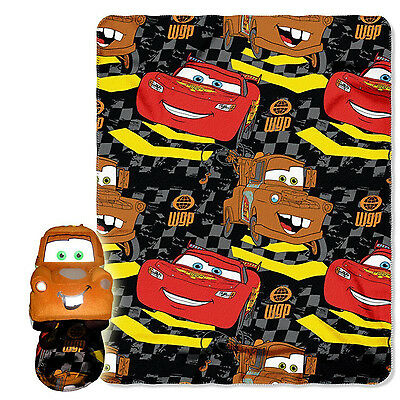 Disney Cars 2, Tow Mater 40-Inch-by-50-Inch Fleece Blanket With Character Pillow • 21.43£