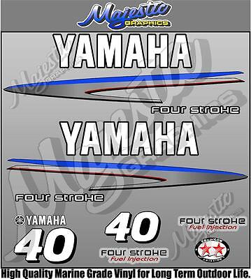 AU60 • Buy YAMAHA 40hp - FOURSTROKE - OUTBOARD DECALS