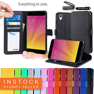 AU10.95 • Buy Premium Leather Wallet Case Cover FOR OPPO AX7 AX5 AX5s A3S R15 R17 PRO A57 A73