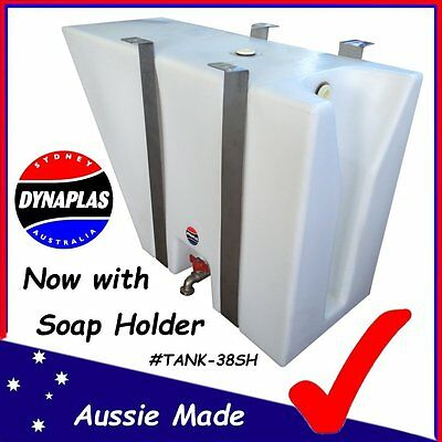 AU299 • Buy Medium White Ute Underbody Poly Tray Top Water Tank 38 L 4x4 4wd Soap Holder New