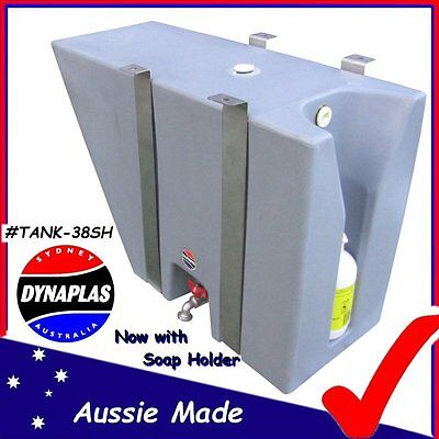 AU299 • Buy Medium Silver Ute Underbody Poly Drinking Water Tank 38l 4x4 4wd Soap Holder New