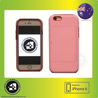 AU5.99 • Buy Bicolor Pink/Red Tough Iphone 6 6s Hard Case Kickstand Stand Card Holder 4.7