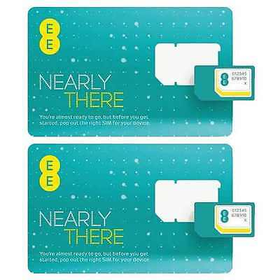 £1.45 • Buy 2 X EE Pay As You Go PAYG SIM Card Micro Nano Adapter For IPhone IPad Samsung