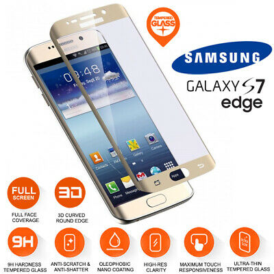 $ CDN7.35 • Buy Samsung Galaxy S7 Edge Full Curved Tempered Glass LCD Screen Protection Gold