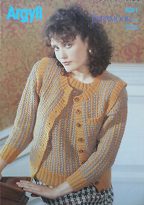 Argyll Knitting Pattern 1031 Fernmoor Dk Two Colour  Waistcoat And Sweater • 2.49£