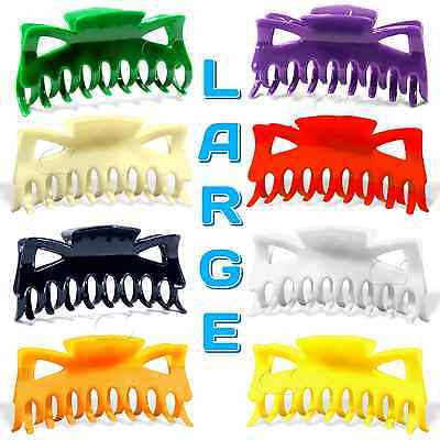 $4.75 • Buy Hair Claw Clip Large Size 4.5  Plastic Butterfly Clips Choose Color B3G1 FREE