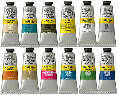 60ml Winsor & Newton Galeria Acrylic Paints Tube High Quality Art Supplies Colou • 3.65£