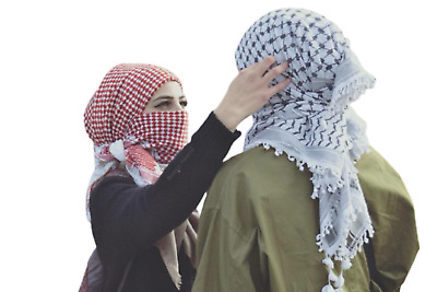 £14.54 • Buy Scarf Keffiyeh Shemagh Arab Original Authentic Quality Palestine Red & White