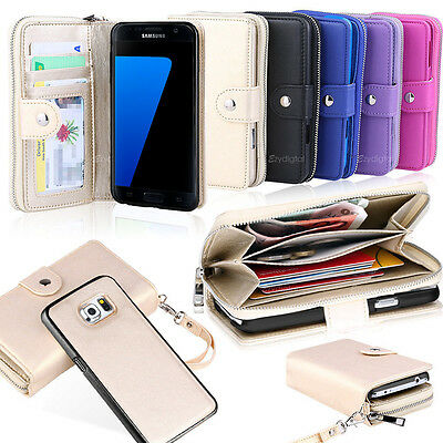 AU14.99 • Buy All In One Zip Purse Wallet Leather Case For Samsung Galaxy S8 S9 S10 S10 Plus