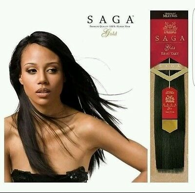 $29.99 • Buy Milky Way Saga Gold Remy Human Hair Yaky Weave Extension 12  14  18