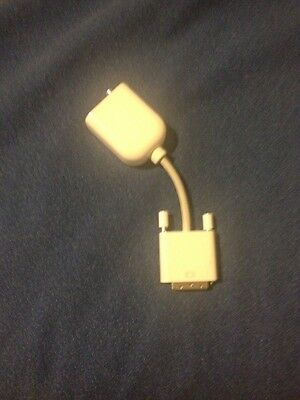 Genuine Apple DVI To Video Adapter M9267G  Composite / RCA & S-Video • 14.95$