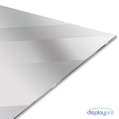 Silver Acrylic Mirror Perspex Sheet Plastic Material Panel A6 A5 A4 A3  • 24.95£