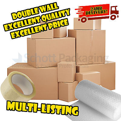 £16.50 • Buy NEW X LARGE DOUBLE WALL CARDBOARD BOXES - House Removal Moving Packing Storage