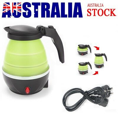AU44.39 • Buy Portable Travel Collapsible Electric Water Kettle Foldable Silicone Water Pot AU