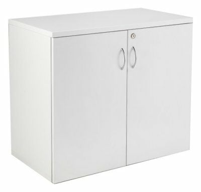 Relax Office 800mm Wooden Desk High Office Cupboard With 1 Shelf - White • 195£