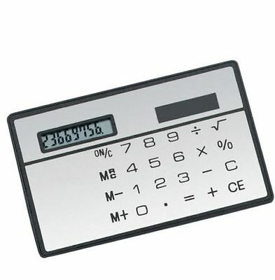 1PCS 8 Digits Ultra Thin Mini Slim Credit Card Solar Power Pocket Calculator New • 0.99£