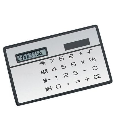 2PCS 8 Digits Ultra Thin Mini Slim Credit Card Solar Power Pocket Calculator New • 1.17£