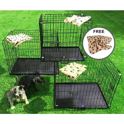 £46.95 • Buy Small Medium Large XL XXL Pet Dog Cage Crate Foldable Carry Transport Carrier