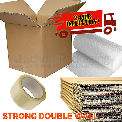 £16.50 • Buy 10 X LARGE NEW DOUBLE WALL Cardboard Moving Boxes - Removal Packing Storage