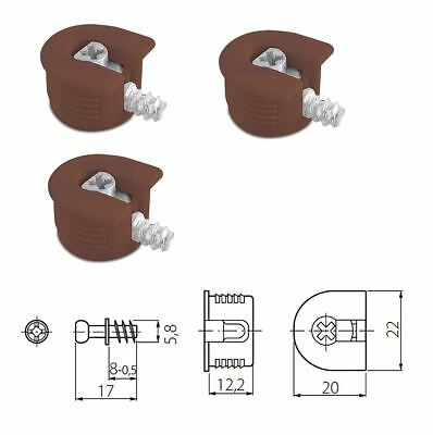 Brown Knock Down Cam Lock - Flat Pack Furniture Fitting, Dowel Assembly Packs • 15.50£