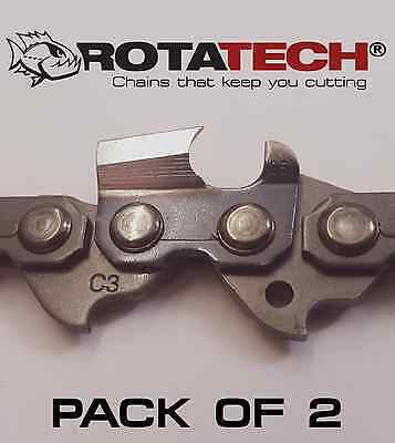 X2 Two Genuine ROTATECH Chainsaw Chains To Fit STIHL 026 18 Bar .325 1.6mm 74 DL • 25.40£
