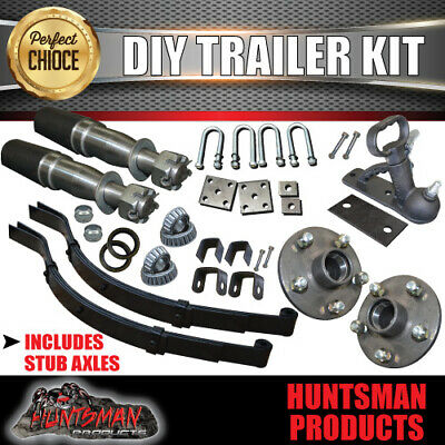 AU175 • Buy Diy Single Axle Trailer Kit. 750kg Rated. Stub Axles. Sg Cast Hubs!! Boat