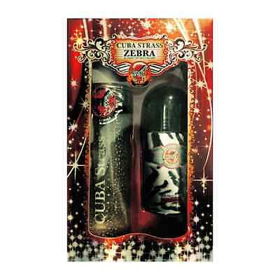 £8.79 • Buy Cuba Perfumes Zebra Strass Duo Set EDT 100ml - Roll On - Gift For Him