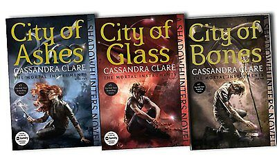 The Mortal Instruments Collection Cassandra Clare City Of Ashes, Bones And Glase • 9.99£
