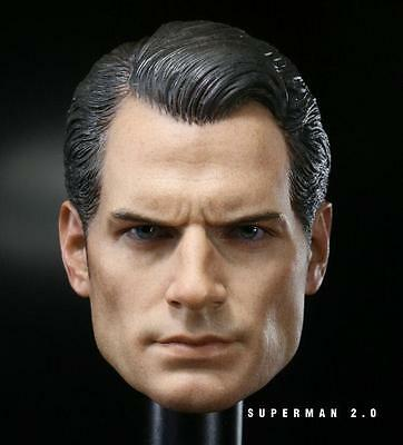 $ CDN25.12 • Buy Custom 1/6 Scale Henry Cavill Batman V Superman 2 Head Sculpt For Hot Toys Body