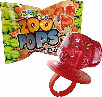 Zoo Pops Mini Lolly Sweets Lollies With Rings Crazy Candy Factory (6, 12 Or 24) • 9.95£