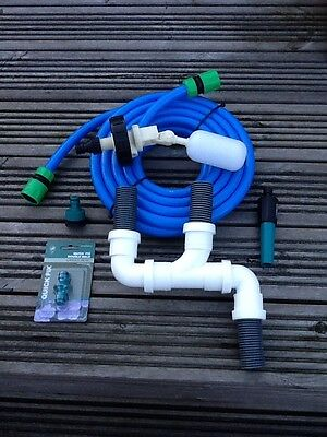 Caravan Mains Water Adaptor For Aquaroll Or WaterHog 10 Metre Hose & RapiDrain • 28£