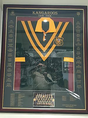 AU795 • Buy Sports Memorabilia - Rugby League, Kangaroos, Signed Jersery, 1978 Tour