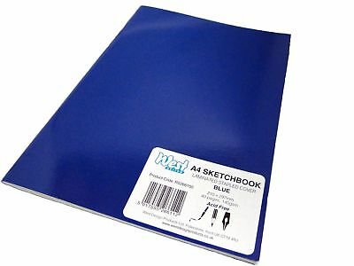 A4 Blue Artist Sketch Books Drawing Sketching Plain Paper Pads Laminated 140gsm • 3.99£
