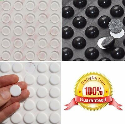 £2.95 • Buy Small & Large 3M Self Adhesive RUBBER FEET ~ BLACK, CLEAR, WHITE ~ Sticky Pads