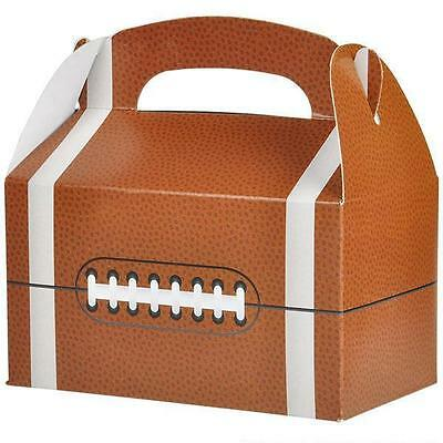 36 FOOTBALL TREAT BOXES Super Bowl Birthday Loot Goody Bag #ST66 FREE SHIPPING • 15.51£