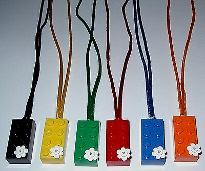 $5.99 • Buy Birthday Party Favor 6 Lego Brick / Flowers  Necklaces Boy  Girl Matching Cords