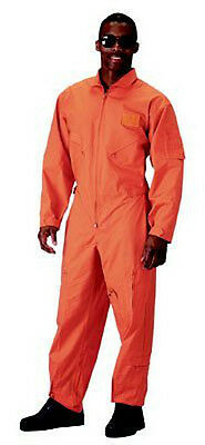 $48.99 • Buy Rothco 7415 Mens Orange Flight Suit, 5 Zippered Pockets,Adjustable Waist & Cuffs