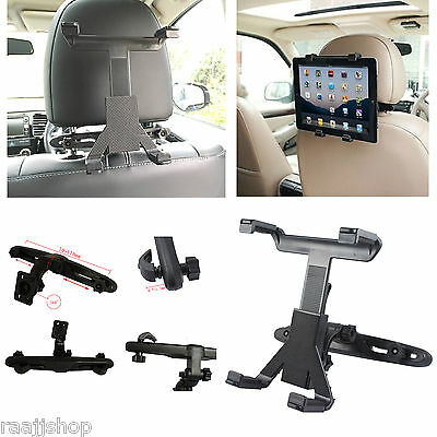 Universal In Car Back Seat Headrest Holder Mount Cradle For Ipad Tablet Samsung • 7.98£