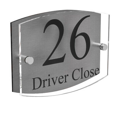 Clear Acrylic House Sign Plaque Door Number Plate • 7.99£