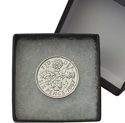 Polished Sixpences Boxed Choice Of Year 1928-1967 Birthday Coins • 2.99£