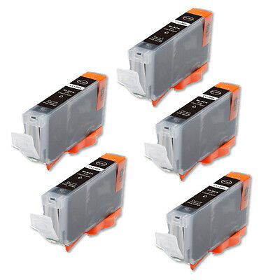 £5.46 • Buy 5P BLACK Quality Ink Cartridge For Canon CLI-8 IP6600D IP6700D MP500 Pro9000