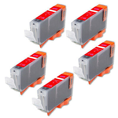 £5.46 • Buy 5P RED Quality Ink Cartridge For Canon CLI-8 Pro9000 Mark II