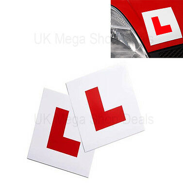 £1.89 • Buy Genuin 2 X L Plate Fully Magnetic Exterior Car New Learner - Secure & Safe