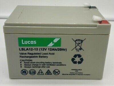 £26.45 • Buy LUCAS 12V 12ah Rechargeable Battery COMPATIBLE WITH  Panasonic LC-CA1212