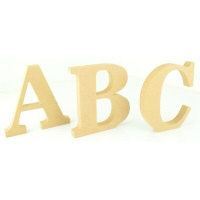 Free Standing Wooden MDF Craft Letters 18mm Thickness 10cm 15cm, 20cm BT News • 4.99£