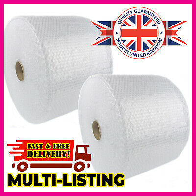 £10.75 • Buy LONG BUBBLE WRAP ROLLS SMALL LARGE (300mm, 500mm, 750mm) 50m, 75m 100m UK MADE