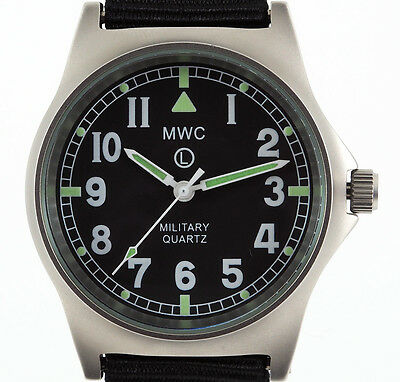 MWC G10 LM Non Date - Military Watch (Black Strap) • 69.99£