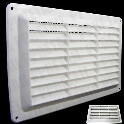 £4.04 • Buy BRICK AIR VENT White Double Louvred Fly Screen 9 X 6  Ventilation Grille Cover