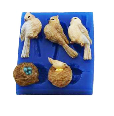 Bird Trio W/ Nests - A216 FIRST IMPRESSIONS MOLDS - Silicone Moulds • 13.28£