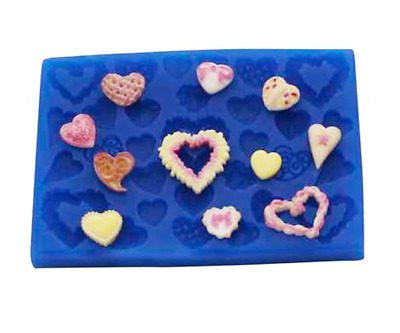 Heart Set - AH112 FIRST IMPRESSIONS MOLDS - Silicone Moulds • 11.78£